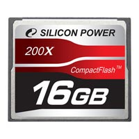 Карта памяти 16Гб Silicon Power  Compact Flash Card Super Speed 200x, SP16GBCF200
