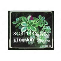 Карта памяти 8ГБ Kingston Compact Flash Kingston Elite Pro CF133x, CF-8GB-S2