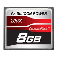 Карта памяти Compact Flash Card 8Гб Silicon Power Super Speed 200x, SP8GBCF200