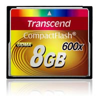 Карта памяти 8Гб CF Transcend Ultra Speed 600X, TS8GCF600