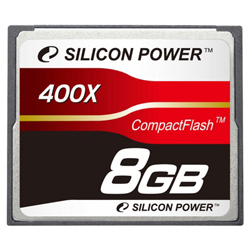 Карта памяти 8Гб Compact Flash Silicon Power  400X, SP008GBCFC400V10